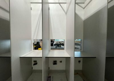 Image of white desk units