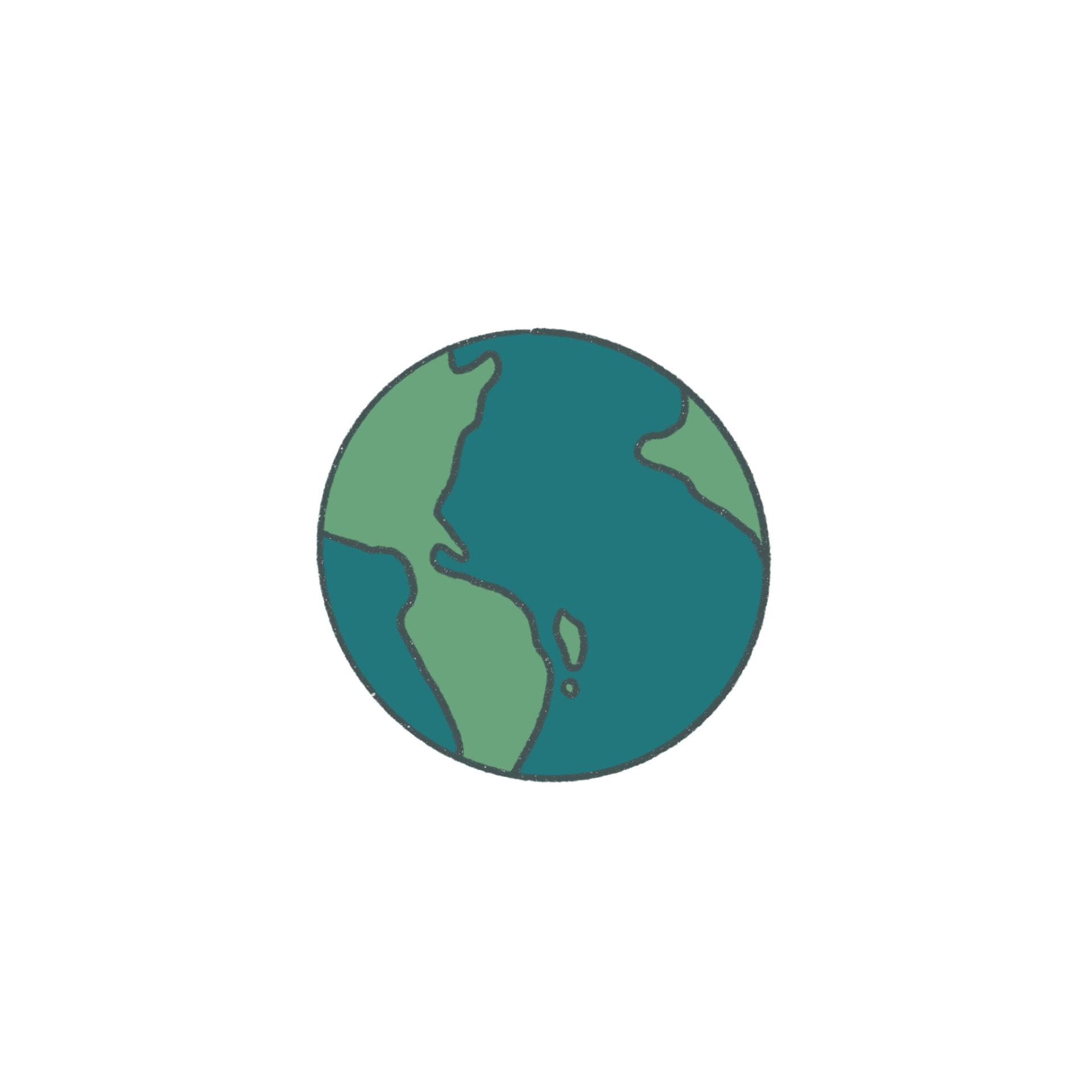 Image of a drawn earth.