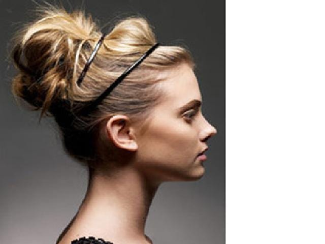 Messy Bun Hairstyle For Prom. dresses low un hairstyles for