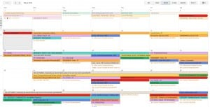 Production schedule at beginning of March