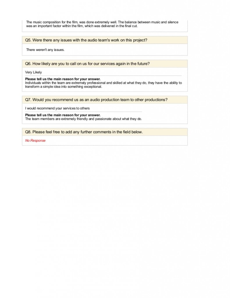 Descent - Feedback Survey 2