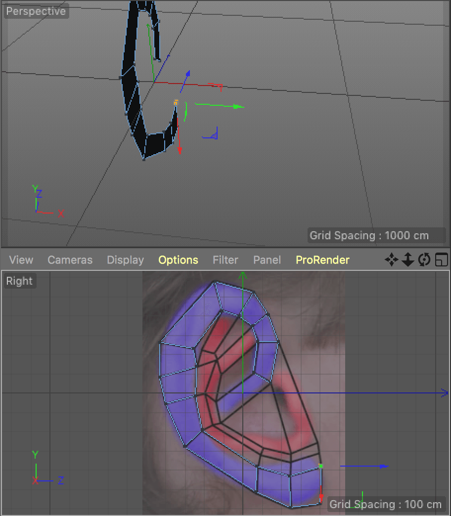 Modeling an ear in Cinema 4D | Media Project – 3rd Year