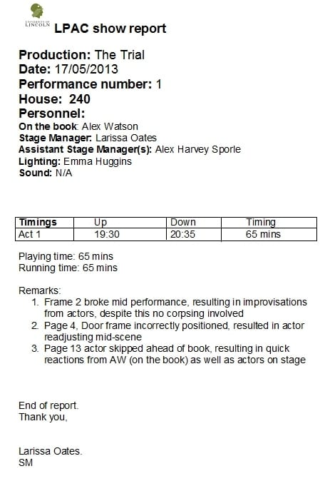 theatre performance analysis Performance/acting rubric student name: _____ reviewer: _____ 0 1 2 3 score character development no evidence of.