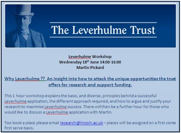 Leverhulme Workshop