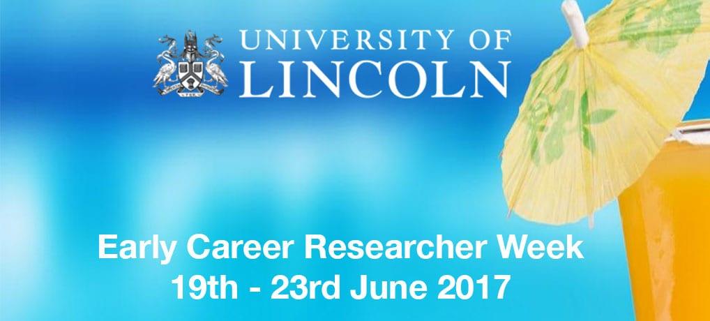 Early Career Researcher Week: 19th – 23rd June 2017 (Internal)
