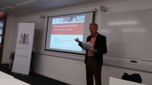 Dirk Strijker University of Groningen Netherlands opens the Research Methods workshop