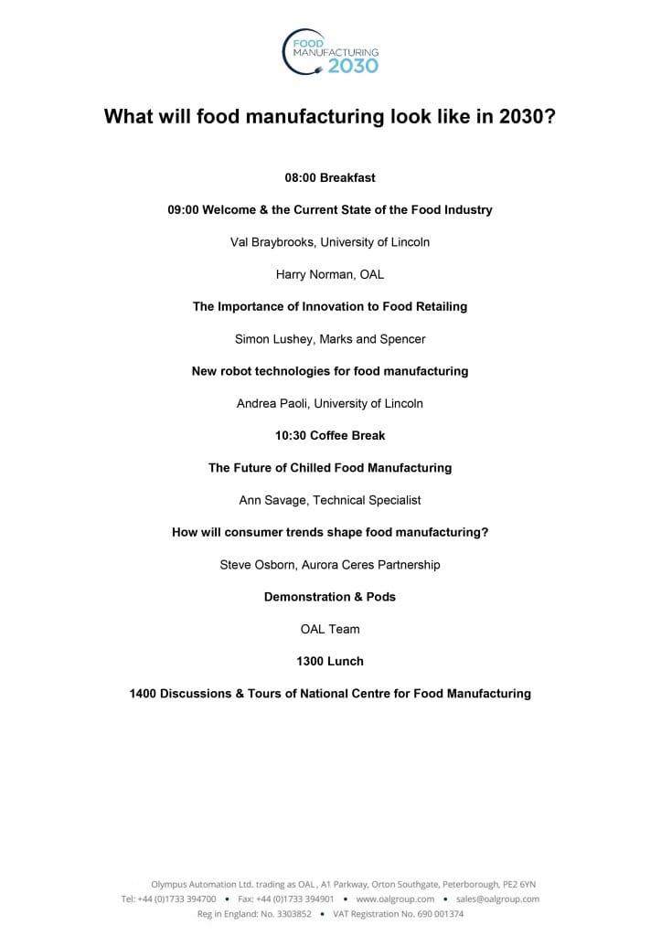 Agenda Food Manufacturing 2030 Conference 131016 v1.3 copy