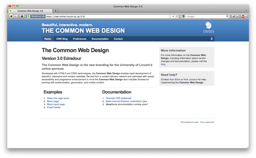 The Common Web Design version 3.0