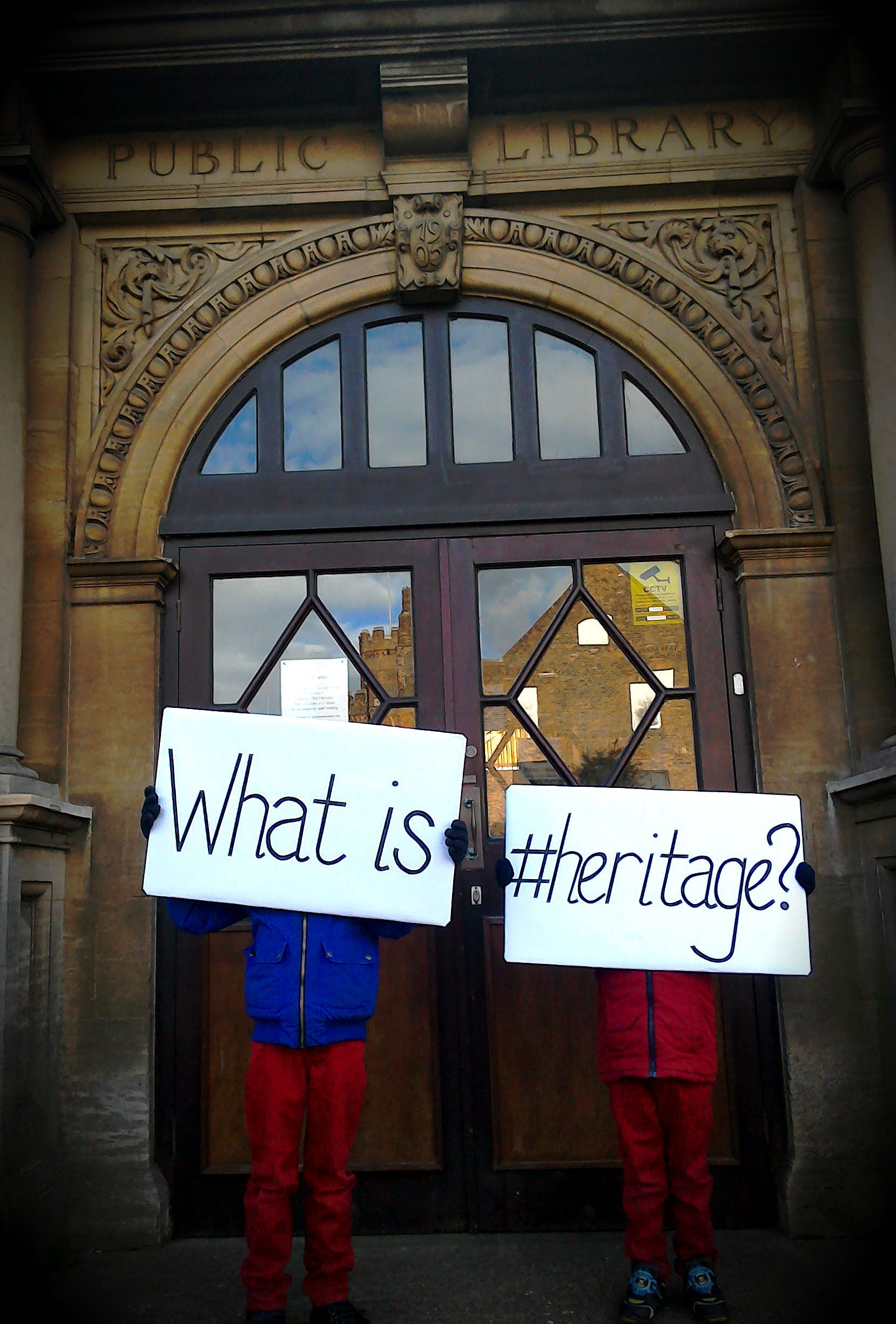 What is #heritage? The entrance to Gainsborough Public Library.