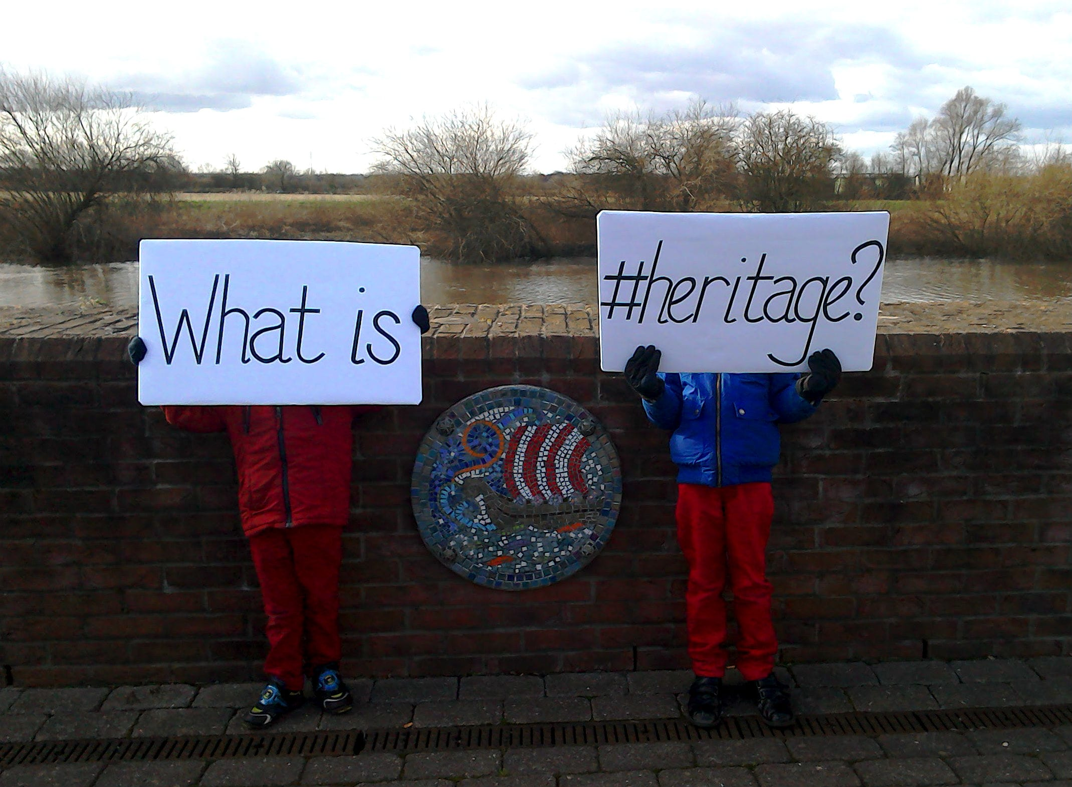 What is #heritage? Heritage art along the Riverside Walk in Gainsborough