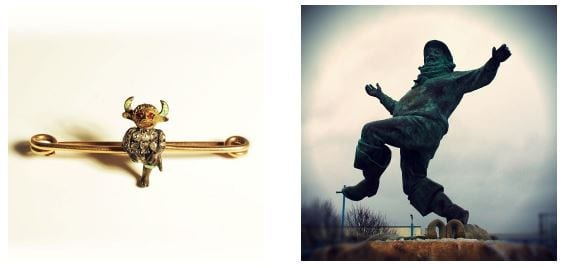 Lincoln Imp Brooch & Jolly Fisherman Poster