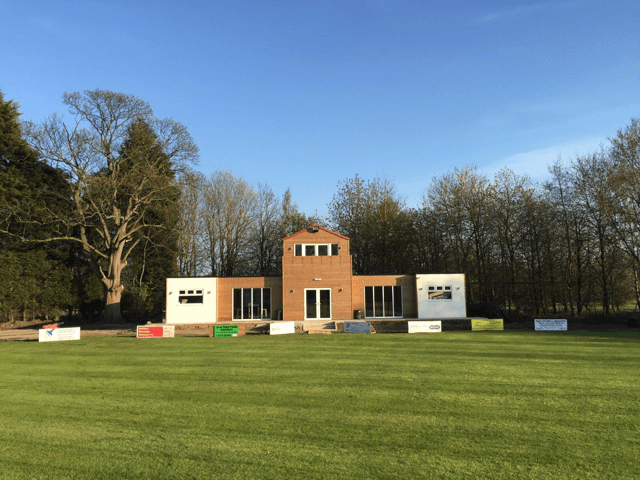 The new pavilion at Outcasts Cricket Club