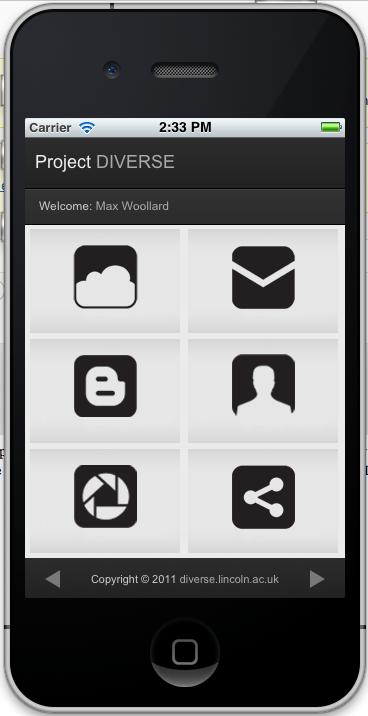 DIVERSE iPhone App