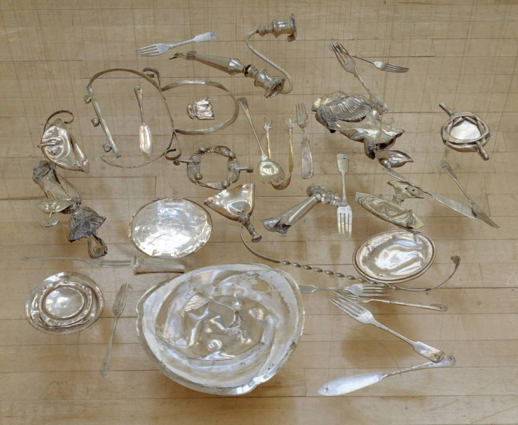 Thirty Pieces of Silver 1988-9 by Cornelia Parker born 1956