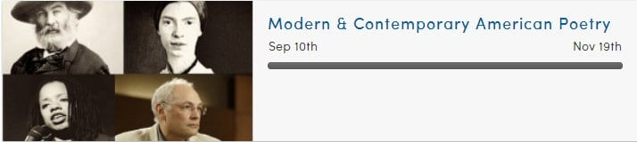 Coursera Modern American Poetry course