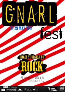 Gnarl fest red and black website