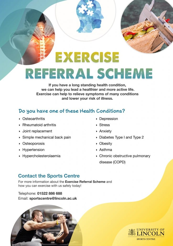 Exercise referral poster