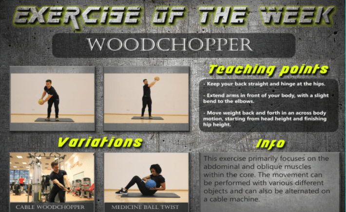 Exercise of the week  woodchop