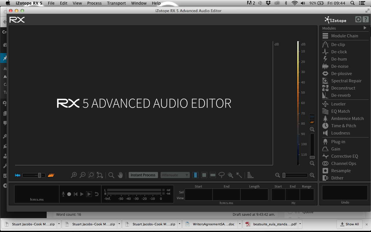 Editing Foley – Izotope RX 5 Advanced – Working to Animation
