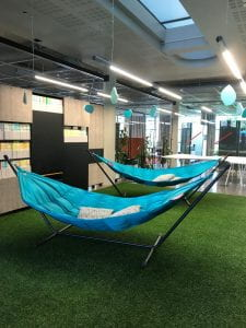 indoor hammock at the library