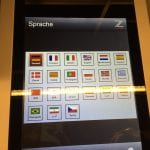A scanner screen showing multiple different language options