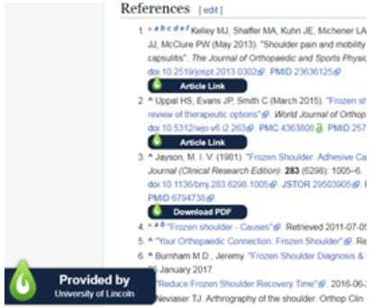 "Wikipedia References with LibKey Nomad ""Article Links"""