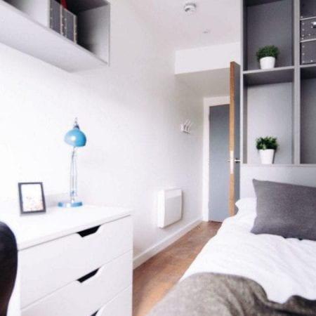 Interior bedroom in Viking House.