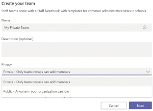 Create Your Team. Screenshot.