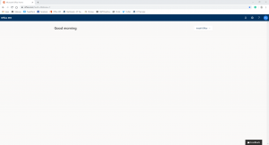 Blank Office 365 page. Screenshot.