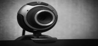 Round web camera.