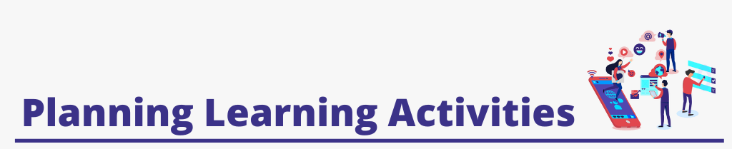 Image Text [Planning learning Activities]