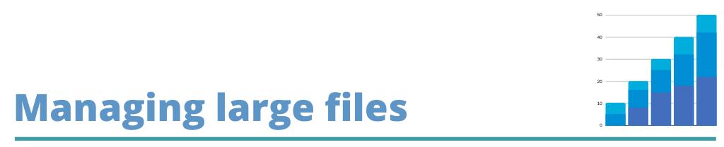Managing large files.