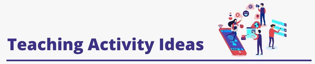 Image text [teaching activity ideas]