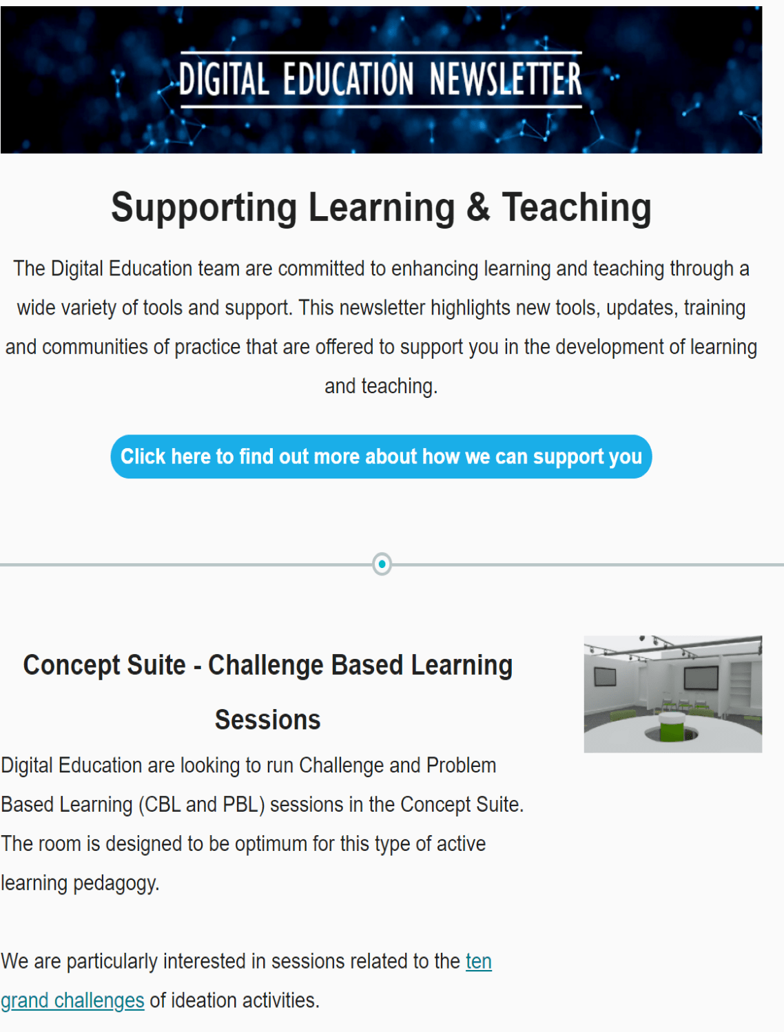 [Image with link description.]  Image is decorative and redirects to Digital Education's Newsletter, February 2020.