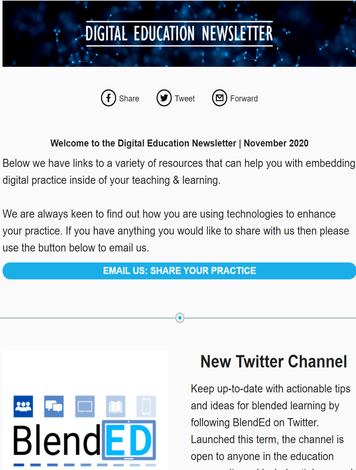 [Image with link description.]  Image is decorative and redirects to Digital Education's Newsletter, November 2020.