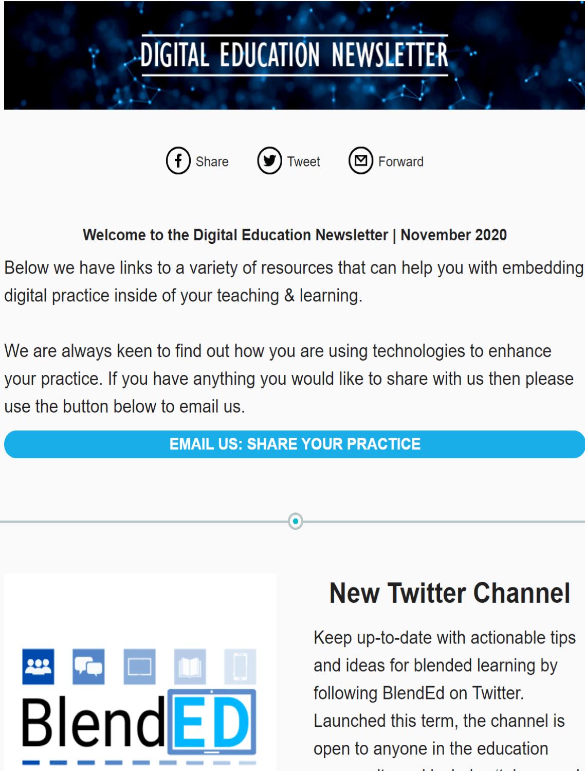 Digital Education Newsletter, November 2020.