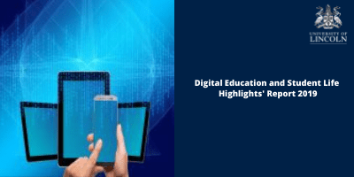 [Image with link description.]  Image is decorative and redirects to Digital Education's Annual Highlights Report for 2019.