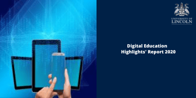 [Image with link description.]  Image is decorative and redirects to Digital Education's Annual Highlights Report for 2020.