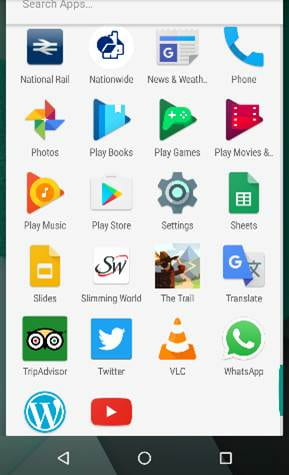 A screenshot showing the Panopto app on Android.