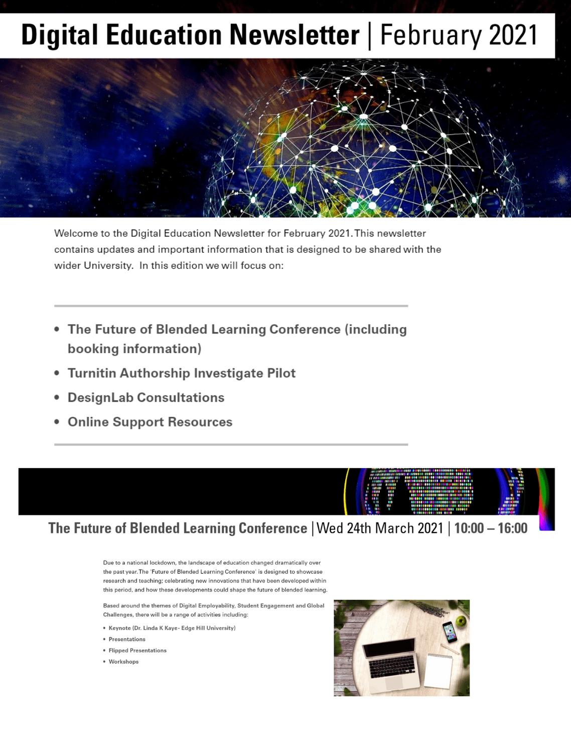 Digital Education Newsletter February 2021