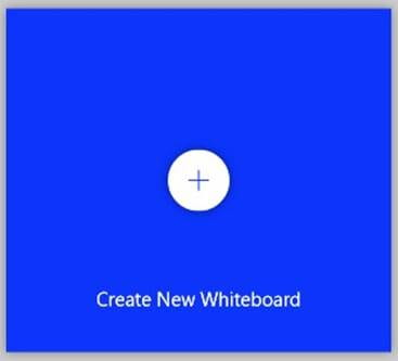 A screenshot of the button to create a new Whiteboard.