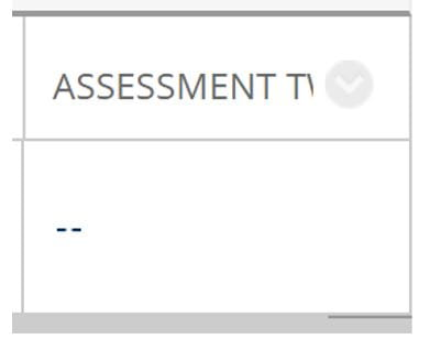 A screenshot of a visible Assessment in the Grade Centre Column.
