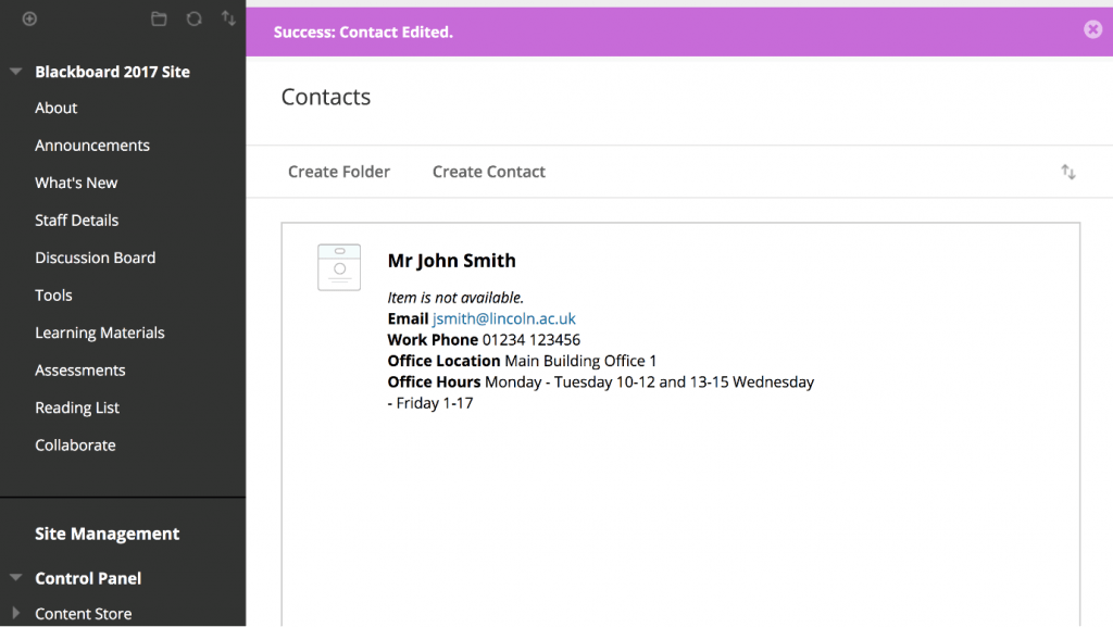 A screenshot showing the completed 'Contracts' page now that details have been added.