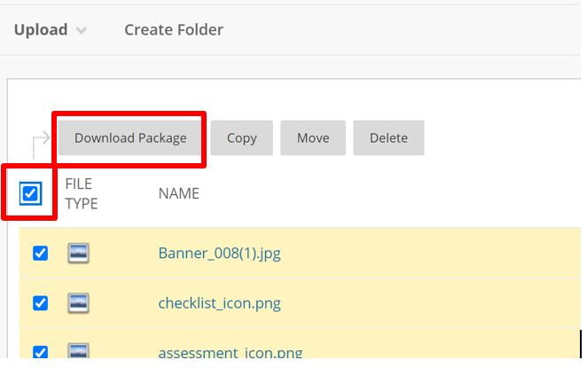 A screenshot showing how you can download a package of your site, for export by choosing 'Download Package'.