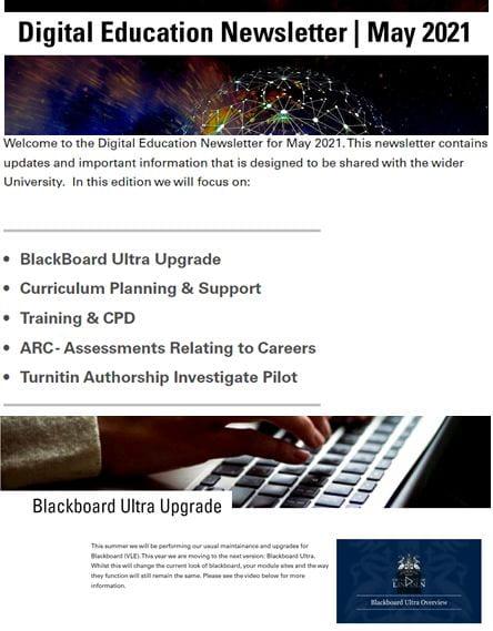 Digital Education Newsletter, May 2021.