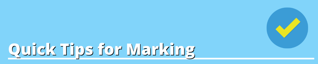 Image Text : Quick Tips for Marking