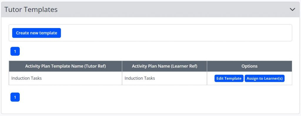 A screenshot of the Assign Activity Plan page. An activity plan is listed with an assign to learners button.