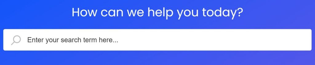 A screenshot of the One File support page. A search box is shown with the title 'how can we help you today?'.