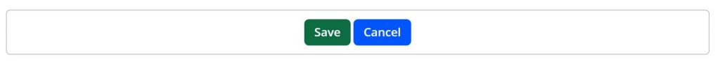 A screenshot of a save and cancel button in one file.