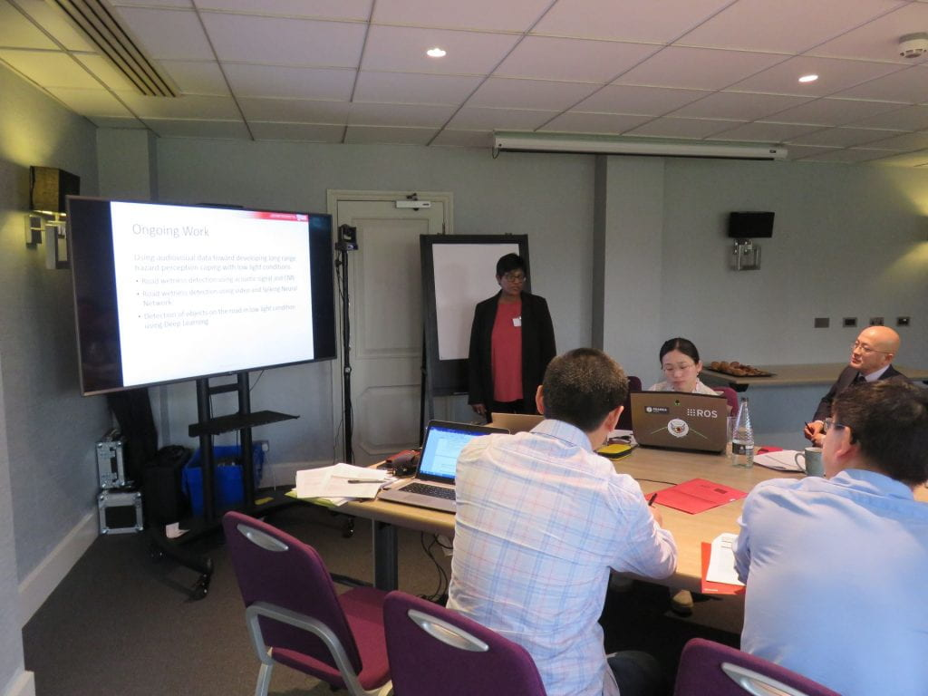 Shyamala Doraisamy presenting at the ULTRACEPT mid-term meeting held in Cambridge UK